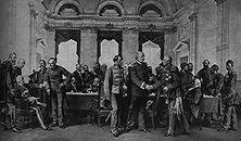 Der Berliner Kongress Als ehrlicher Makler verhinderte Bismarck, dass sich 1878 aus dem Russisch-Türkischen Krieg ein Krieg zwischen England und Russland entwickelte. England dankte es ihm durch gehässige Angriffe. - Gemälde von Anton von Werner.