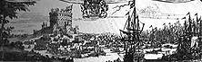 Die Landung Wilhelms III. von Oranien Durch den Oranier, der von der Plutokratenpartei der Whigs herbeigerufen wurde, am 5. November 1688 an der Westküste Englands landete und den letzten Stuartkönig Jakob IL zur Flucht zwang, wurde Holland endgültig ins Schlepptau der englischen Politik genommen. - Nach einer Miniatur von W. Schellinks.