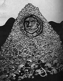 """Cecil Rhodes, der Totengräber des Burenvolkes Die Interessen des jüdisch-britischen Kapitals an den Gold- und Diamantfeldern von Transvaal gaben den Anstoß zur Vernichtung des freien Burenvolkes. - Aus """"L' Assielte au Beurre"""" (1901)."""