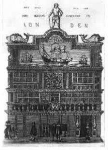 Die Erfolge der Portugiesen und Holländer im Indienhandel weckten in England das Verlangen, sich gleichfalls an der Ausbeutung Indiens zu beteiligen. 1599 wurde die Ostindien-Kompanie gegründet. - Nach einem alten niederländischen Stich.