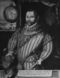 Sir Francis Drake, von den Engländern als Seeheld und Entdecker gefeiert, hatte sich bei den Raubfahnen Hawkins' die Sporen verdient. Später fühne er die Seeräuberei in größerem Stile fort; besonders seine Weltumseglung, ein Raubzug auf die Westküsten Amerikas, warf für ihn und seine Geldgeber große Gewinne ab.