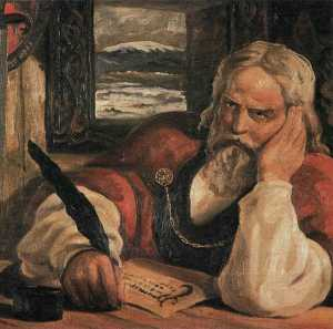 Snorri Sturluson Skalde (Dichter), Historiker und Autor der Snorra-Edda