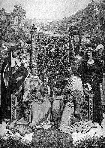 """350px-Gemeinsames_Aquarell_""""Das_Heilige_Römische_Reich_Deutscher_Nation""""_von_den_deutschen_Malern_Peter_Becker_und_Eduard_Steinle_aus_dem_Jahre_1864)"""